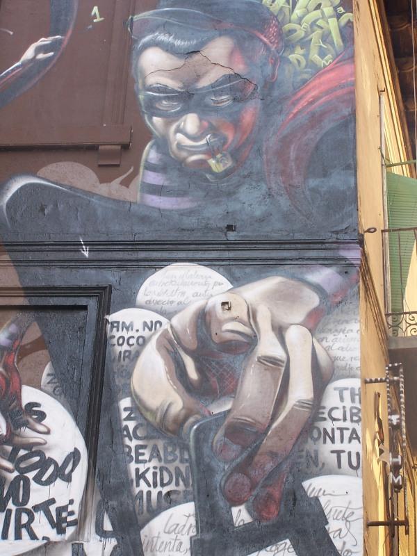Graffiti pintado en el Casco Histórico de Zaragoza