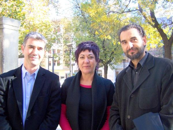 Juan Martin, Carmen Gallego y Antonio Gaspar, concejales de CHA