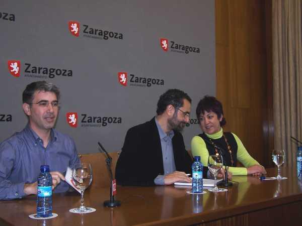 Juan Martin, Antonio Gaspar y Carmen Gallego, concejales de CHA en el Ayuntamiento de Zaragoza