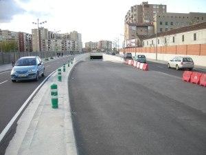 Túnel de salida de Zaragoza a la A68