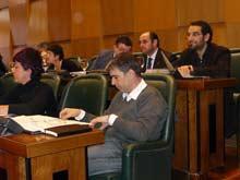 Concejales de CHA en un pleno