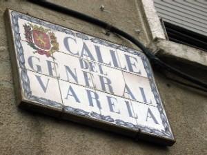 Calle zaragozana con nombre franquista