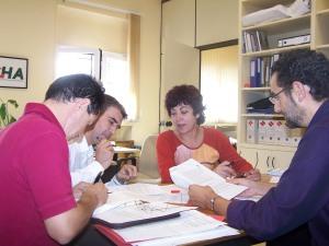 Concejales de CHA trabajando en el grupo