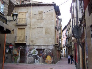 Edificio con mural eliminado por encargo del Ayuntamiento de Zaragoza