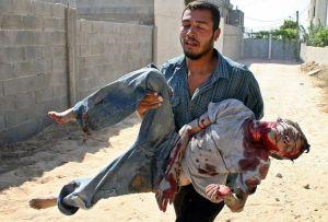 El ejército israeli está causando en Gaza una auténtica matanza indiscriminada