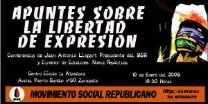 Cartel anunciador del acto neonazi en el Centro Civico de La Almozara