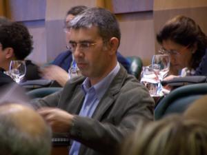 Juan Martín, portavoz de CHA en el pleno de febrero de 2009