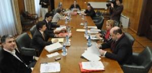 Integrantes en la Comision del Seminario. Foto El Periódico de Aragón