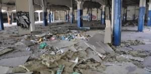 Asi está la antigua Schindler en Las-fuentes. Foto de el periódico de Aragon