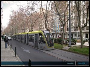 tranvía por Zaragoza