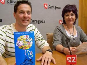 Sergio del Barrero y Carmen Gallego en la presentación de la Semana Cultural