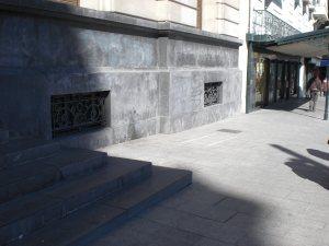 Este es el lugar donde antes se encontraba el aparcabicis junto a la DPZ de Zaragoza