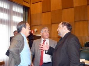 Miembros del tripartito en el Ayuntamiento de Zaragoza