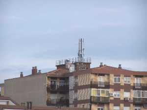 Antena telefonía móvil en Garrapinillos, Zaragoza