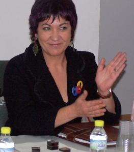 Carmen Gallego en un pleno de la Junta de San José