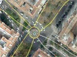 Ubicación de la futura estación subterránea de Goya
