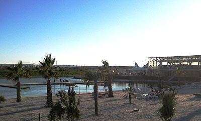 Playa fluvial en el parque Luis Buñuel, Zaragoza
