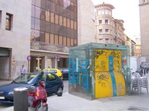 Biceberg cerrado en Zaragoza y que CHA pide que se abra al público