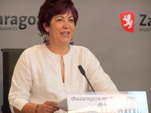 Carmen Gallego en la sala prensa Seminario