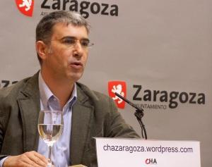Juan Martín, portavoz de CHA Ayuntamiento de Zaragoza
