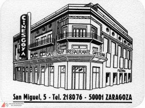 Antiguo Cine Goya de Zaragoza en un posavasos