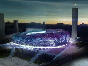 Maqueta del nuevo campo de fútbol diseñado en el barrio de San José