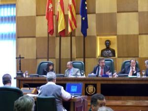 Momento del Pleno de Zaragoza, 30-X-09