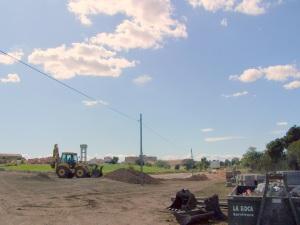 Nuevo Parque de Garrapinillos, construido fuera del núcleo urbano y al que no se puede acceder a pie