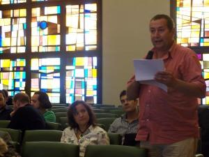 Intervención del Pte. de la AA.VV San José durante el pleno de hoy