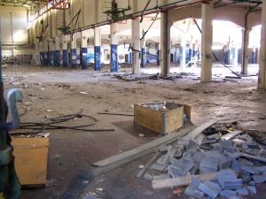 estado de abandono de la antigua fábrica de Giesa